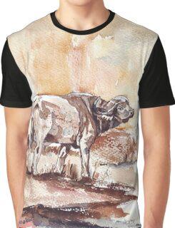 African Buffalo Graphic T-Shirt