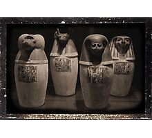 Canopics Jars Photographic Print