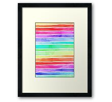 Ever So Bright Rainbow Stripes Framed Print