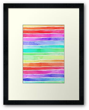 Ever So Bright Rainbow Stripes by micklyn