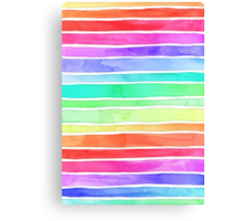 Ever So Bright Rainbow Stripes Canvas Print