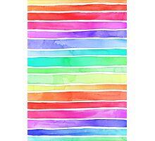 Ever So Bright Rainbow Stripes Photographic Print