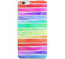 Ever So Bright Rainbow Stripes iPhone Case/Skin