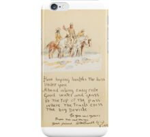 CHARLES M. RUSSELL (1864-1926) Letter to Frank Kerr (1924) iPhone Case/Skin