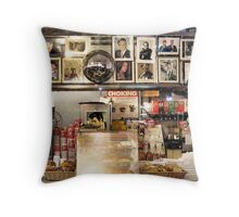 Interior of the Cheyenne Diner, New York City Throw Pillow