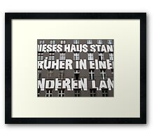 Capital letters writing on the facade of a Berlin building  Framed Print
