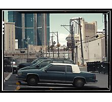 Vintage cars of the 1970s in Las Vegas, Kodachrome Photographic Print