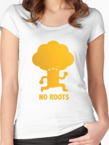NO ROOTS Women's Fitted Scoop T-Shirt