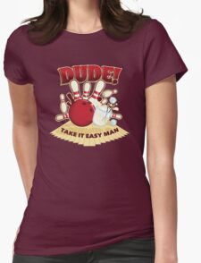 Dude! Womens Fitted T-Shirt
