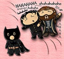 Guy of Gisborne and Thorin Oakenshield's reaction to Richard Armitage as Batman (for prints) by sebabybaby