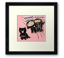 Guy of Gisborne and Thorin Oakenshield's reaction to Richard Armitage as Batman (for prints) Framed Print