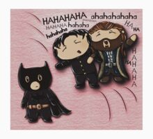 Guy of Gisborne and Thorin Oakenshield's reaction to Richard Armitage as Batman (for shirts) Kids Clothes