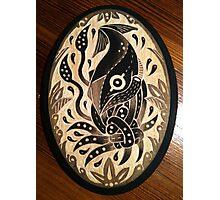 Tangled squid on wood Photographic Print