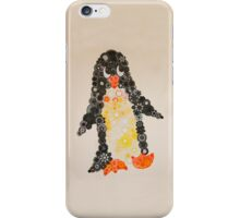 Spirograph Penguin in black, yellow and orange iPhone Case/Skin