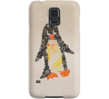 Spirograph Penguin in black, yellow and orange Samsung Galaxy Case/Skin