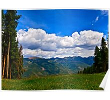 """""""Hiking Vail Mountain"""" Vail, CO Poster"""