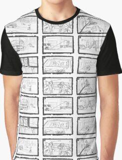 Street Snowboarding Snowday - Comic Strip Graphic T-Shirt