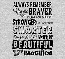 Positive Affirmation Typography Design - You are Brave, Strong, Smart & Beautiful Unisex T-Shirt