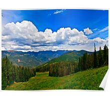 """""""Hiking Vail Mountain"""" II - Vail, CO Poster"""