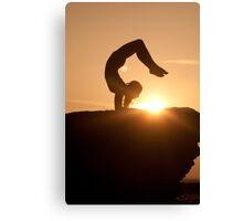 Yoga Poses at Sunset 5 Canvas Print