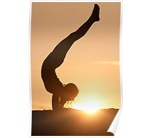 Yoga Poses at Sunset 6 Poster