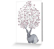 Blossom Heart Bunny Greeting Card