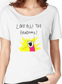 Love all the fandoms Women's Relaxed Fit T-Shirt
