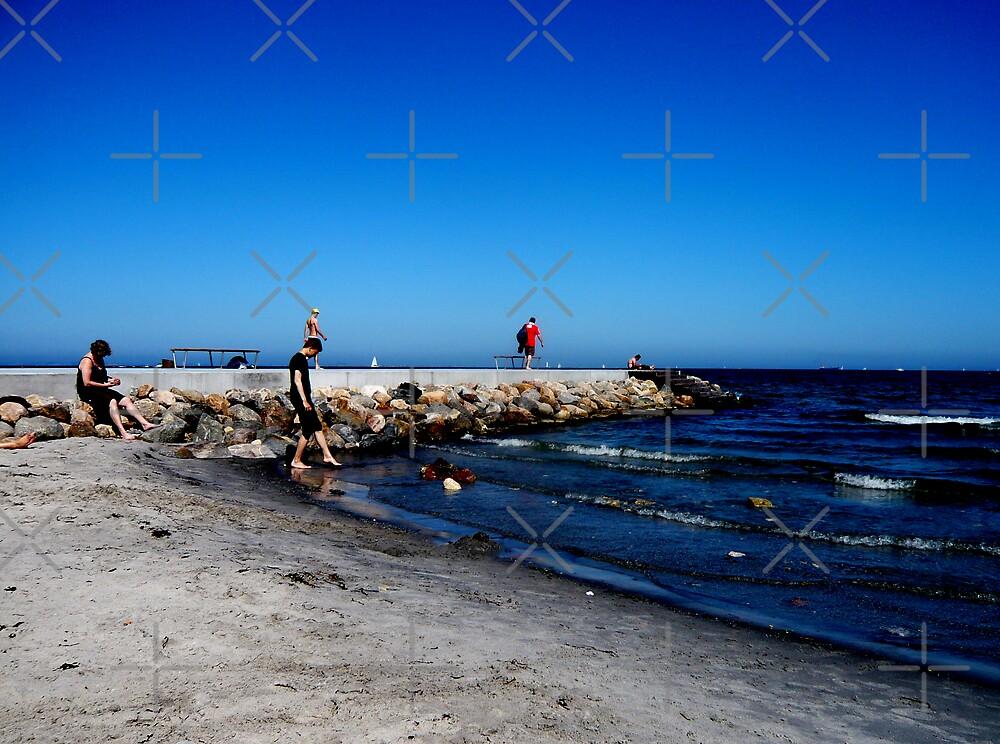 Danish Beach on a Blue Day by HeklaHekla