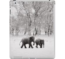 Elephants in the snow iPad Case/Skin