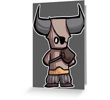 Bull chibi Greeting Card