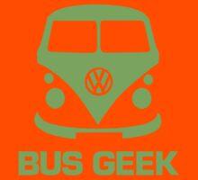 Bus Geek Green Kids Tee