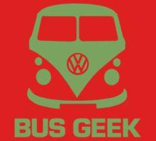 Bus Geek Green One Piece - Short Sleeve
