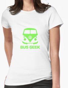 Bus Geek Green Womens Fitted T-Shirt