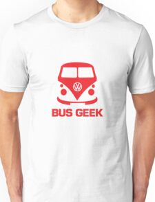 VW Bus Geek Red Unisex T-Shirt