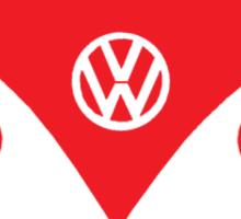 VW Bus Geek Red Sticker