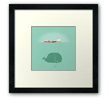 Whale Balloons Framed Print