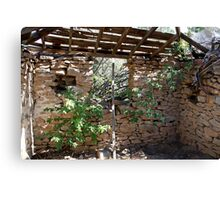 Inside old Miners Cabin Reno Nevada USA Canvas Print