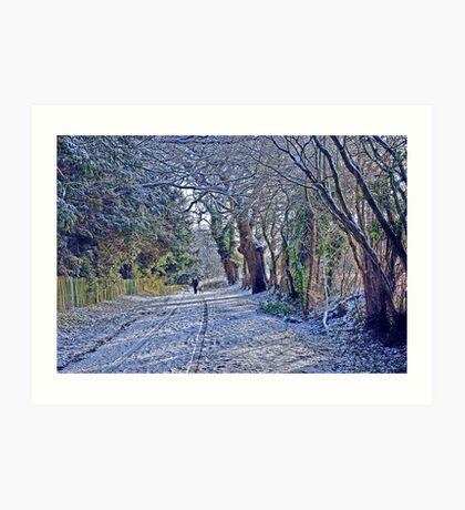 Fox & Pin Lane, Nowton,Bury St Edmunds.  Art Print