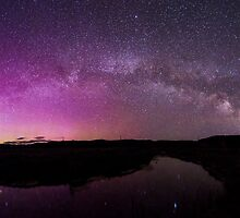 Northern Lights and Milky Way Over Jackson Hole by cavaroc