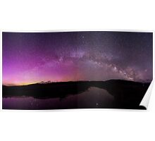 Northern Lights and Milky Way Over Jackson Hole Poster