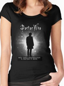 Into every regeneration a Doctor is born Women's Fitted Scoop T-Shirt
