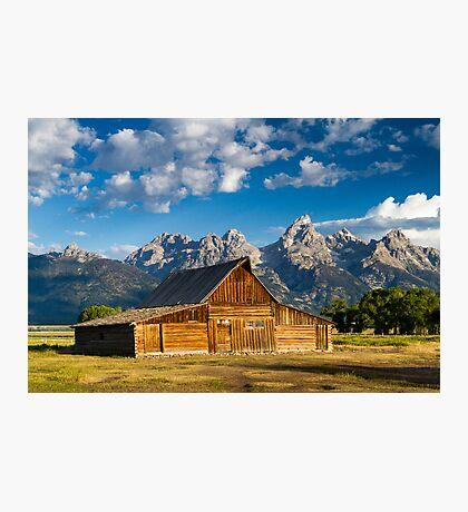 Moulton Barn and Teton Mountains Photographic Print