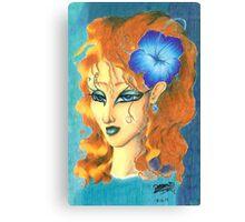 Blue Passion Paradise Canvas Print