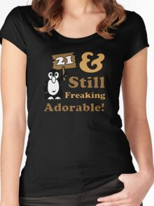 Cute 21st Birthday Gift For Women Women's Fitted Scoop T-Shirt
