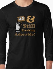 Cute 21st Birthday Gift For Women Long Sleeve T-Shirt