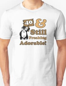 Cute 40th Birthday Gift For Women Unisex T-Shirt