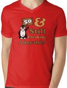 Cute 50th Birthday Gift For Women Mens V-Neck T-Shirt