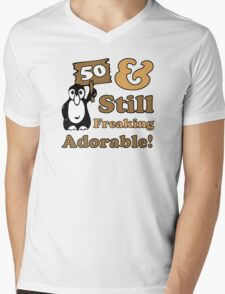Cute 50th Birthday Gift For Women Mens V-Neck T-Shirt