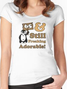Cute 65th Birthday Gift For Women Women's Fitted Scoop T-Shirt