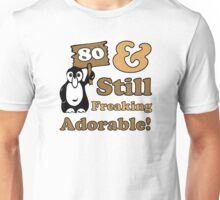 Cute 80th Birthday Gift For Women Unisex T-Shirt